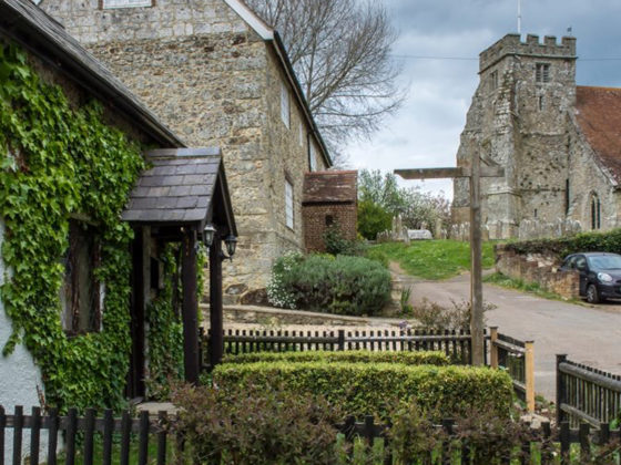 Lavender Cottage & St George's Church