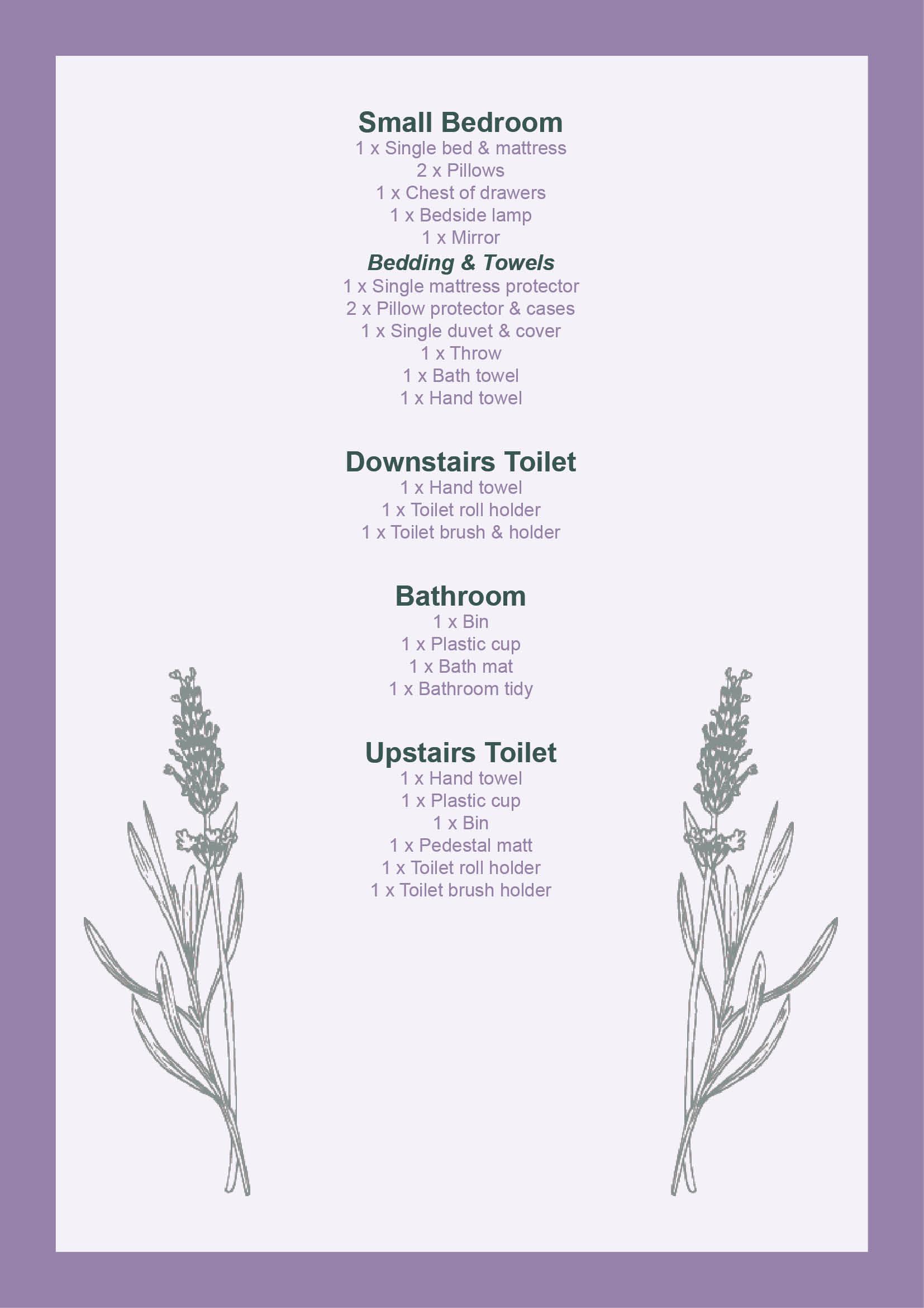 Lavender Cottage Handbook Page 4